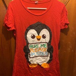 Red penguin shirt